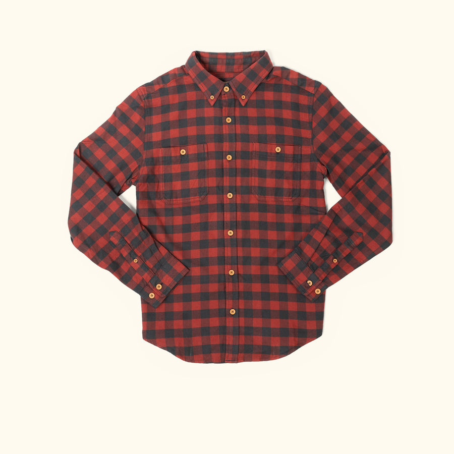 Waxhaw Buffalo Plaid Flannel - Red Range