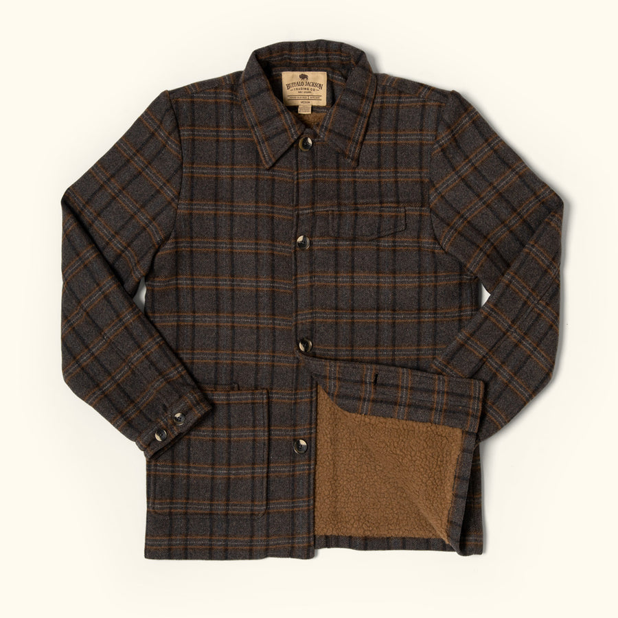 Vintage Wesley Wool Plaid Jacket for men