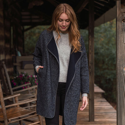 Hathaway Women's Long Wool Jacket hover