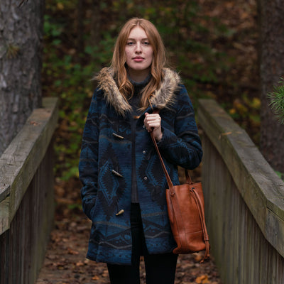 Women's Ganado Hooded Parka | Navy & Black