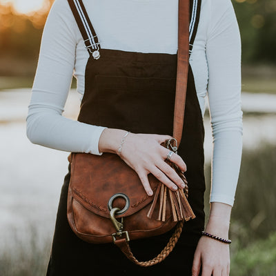 Camden Braided Leather Crossbody Bag | Hickory hover