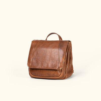 Walker Leather Backpack | Rustic Tan