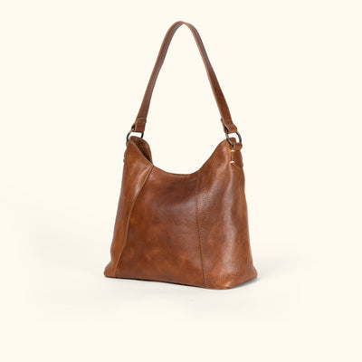 Walker Leather Shoulder Bag | Rustic Tan