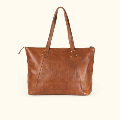 Walker Leather Tote Bag | Rustic Tan