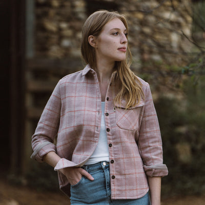 Women's Wool Shirt Jac Canyon Rose hover