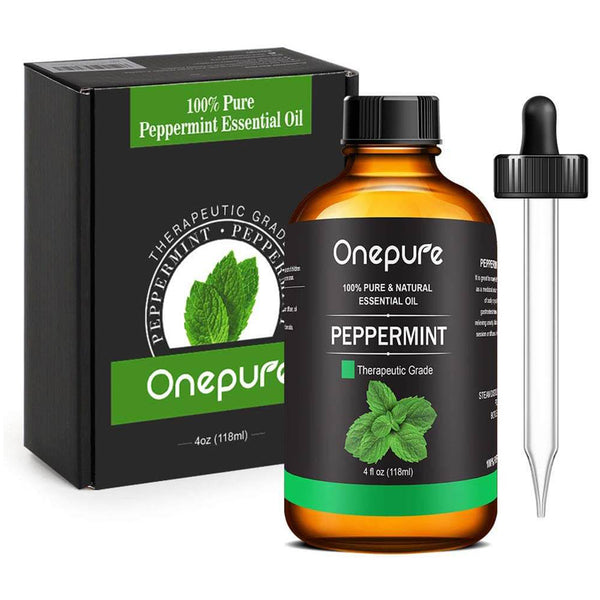 Onepure 100% Pure Peppermint Essential Oil - (4.0 Fl Oz/118ml) - Aromatherapy Essential Oils for Diffuser and Topical Use Natural Oils for Home and Work