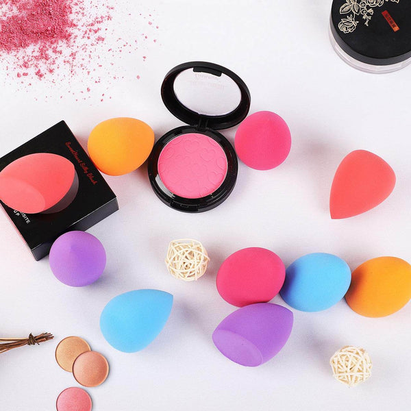 InnoGear 10 Pcs Makeup Sponge Set Beauty Blender Foundation, Flawless for Liquid, Cream and Powder, Multi-Purpose Cosmetic Applicator Puff for Effortless Blending
