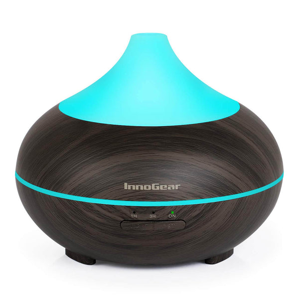 InnoGear 150ml Aromatherapy Essential Oil Diffuser Wood Grain Aroma Diffusers Cool Mist Humidifier with Timer Adjustable MistWaterless Auto Shut-off