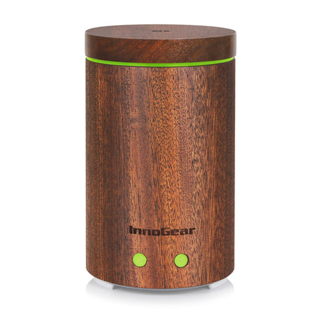 InnoGear Aromatherapy Essential Oil Diffuser Ultrasonic Cool Mist Diffusers with 7 Color LED Lights Waterless Auto Shut-off, Light Wood Grain, 200 mL