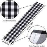 InnoGear 2 Pack 14 x 108 inch Buffalo Check Table Runner Polyester Cotton Black and White Plaid for Indoor and Outdoor Parties, Family Dinner, Thanksgiving, Christmas & Gathering