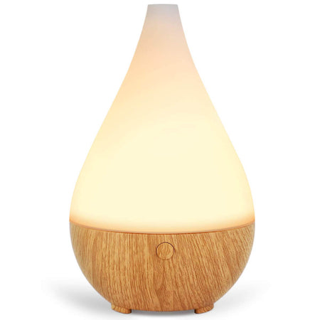 InnoGear 500ml Aromatherapy Essential Oil Diffuser Wood Grain Aroma Diffusers Cool Mist Humidifier with Timer Adjustable Mist 7 Color Changing Night Lights Waterless Auto Shut-off