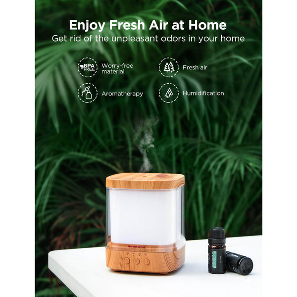 InnoGear 300ml Essential Oil Diffuser Aroma Diffuser Cool Mist Humidifier Ultrasonic Aromatherapy Diffusers with 4 Timer Settings Adjustable Mist Mode for Home Office Bedroom