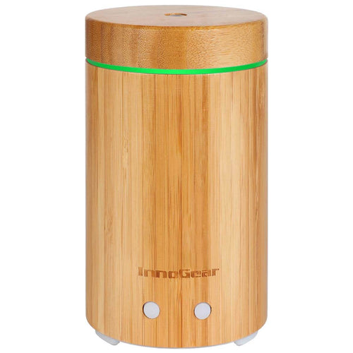 InnoGear 3rd Version 150ml Real Bamboo Essential Oil Diffuser Ultrasonic Aroma Aromatherapy Diffuser Cool Mist Humidifier with Intermittent Continuous Mist for Home Office Bedroom Room