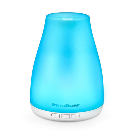 InnoGear Diffuser with Essential Oils, 200ml Aromatherapy Diffuser 8 Bottles Essential Oil Gift Set Aroma Cool Mist Humidifier for Home Office Bedroom Room