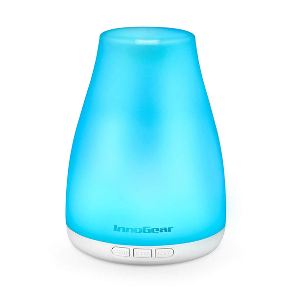 InnoGear 3rd Version Essential Oil Diffuser Super Quiet Aromatherapy Diffuser Ultrasonic Cool Mist Humidifier with Sleep Mode, Waterless Auto-Off for Home Office Bedroom Room