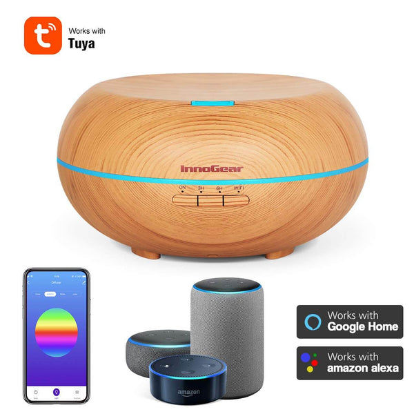 InnoGear Smart Wi-Fi Essential Oil Diffuser, 500ml App Control Aromatherapy Diffuser Works with Alexa & Google Home Voice Control Aroma Humidifier Cool Mist Vaporizer