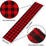 InnoGear 14 x 108 inch Buffalo Check Table Runner Polyester Cotton Red and Black Plaid for Indoor and Outdoor Parties, Family Dinner, Thanksgiving, Christmas & Gathering