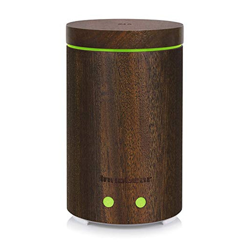 InnoGear Upgraded Real Bamboo Essential Oil Diffuser Ultrasonic Aroma Aromatherapy Diffusers Cool Mist Humidifier with Intermittent Continuous Mist 2 Working Modes Waterless Auto Off