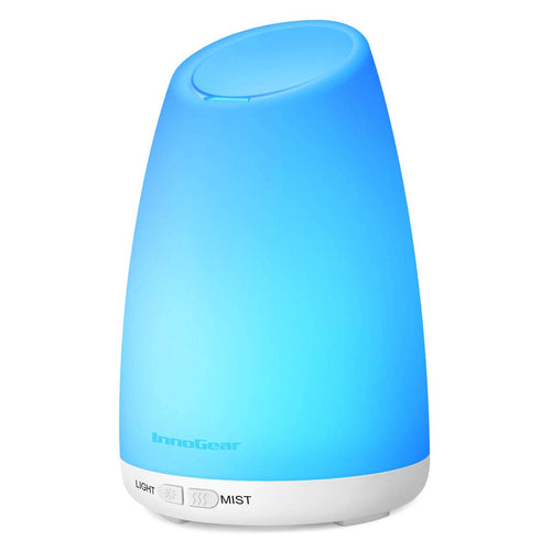 InnoGear 150ml Aromatherapy Essential Oil Diffuser, Ultrasonic Portable Cool Mist Aroma Humidifiers Room Freshener with 7 Color LED Night Lights