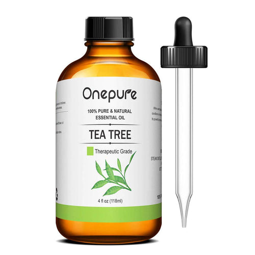 Onepure 100% Pure Tea Tree Essential Oil - (4.0 Fl Oz/118ml) - Aromatherapy Essential Oils for Diffuser and Topical Use Natural Oils for Home and Work