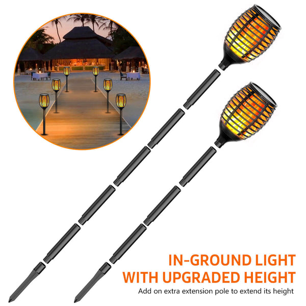InnoGear Upgraded Solar Torch Lights Outdoor 96 LED Flickering Flames Waterproof Wireless Light Auto On/Off for Patio, Driveway, Garden, Path and Yard, Pack of 4