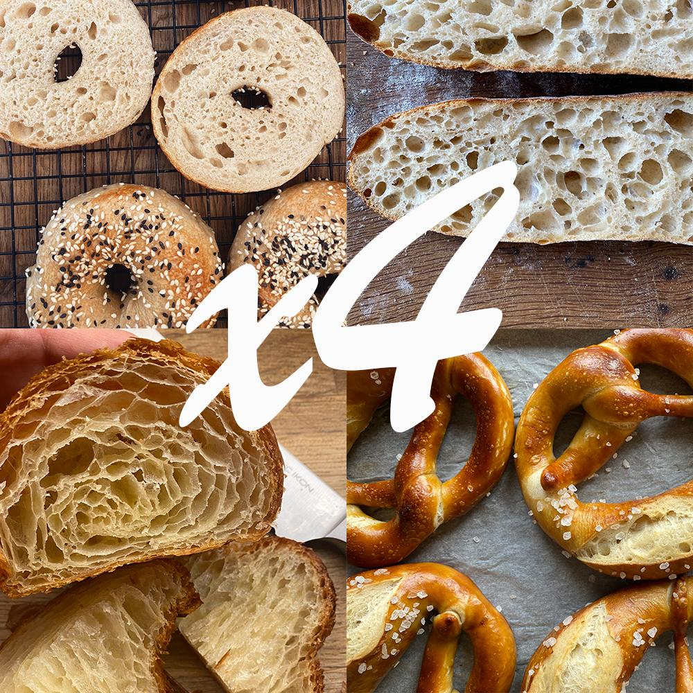Sourdough skills series + croissants like a pro bundle Online Course Sophia's Kitchen