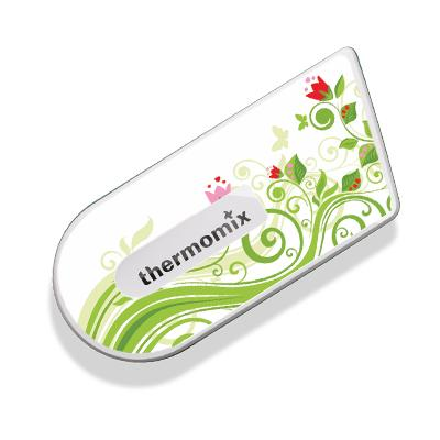 Green Floral Sticker for Cook-Key