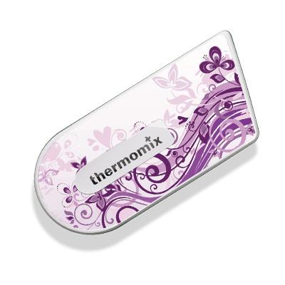 Purple Floral Sticker for Cook Key
