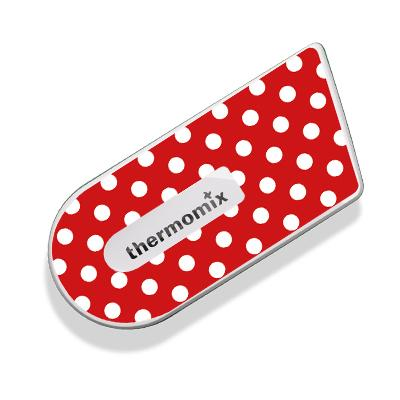 Red Polka Dots Sticker for Cook-Key