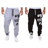 2017 NEW YORK Printed Men's Casual Pant Spring Fashion Men's Sports Trousers