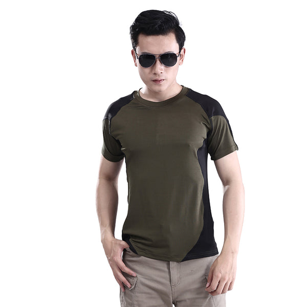 Army T-shirt ,ESDY Summer Short Sleeve O-Neck Men Sport T shirt Outdoor Wear Quick Dry Military Tactical Combat Camp Tops&Tees