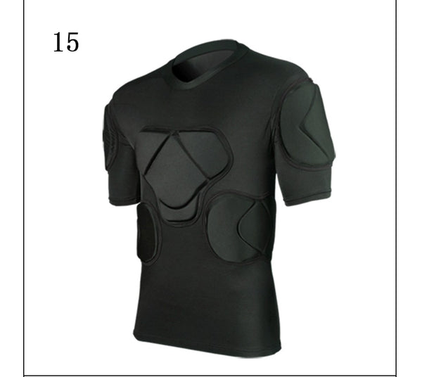 New skateboarding t-shirt american football soccer shirts goalkeeper jerseys chest vest elbow knee pads protection sports safety