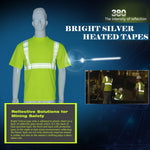 SFVest hi viz  yellow work shirt bright silve breathable work cloth safety reflective t-shirt mining safety shirt