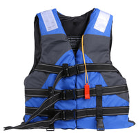Adult Polyester Swimming Life Jacket Professional Life Vest For Drifting Boating Survival Fishing Safety Jacket with Whistle