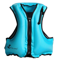 Adult Inflatable Life Jacket Swim Vest Snorkeling Floating Device Swimming Drifting Surfing Water Sports Life Saving Jacket
