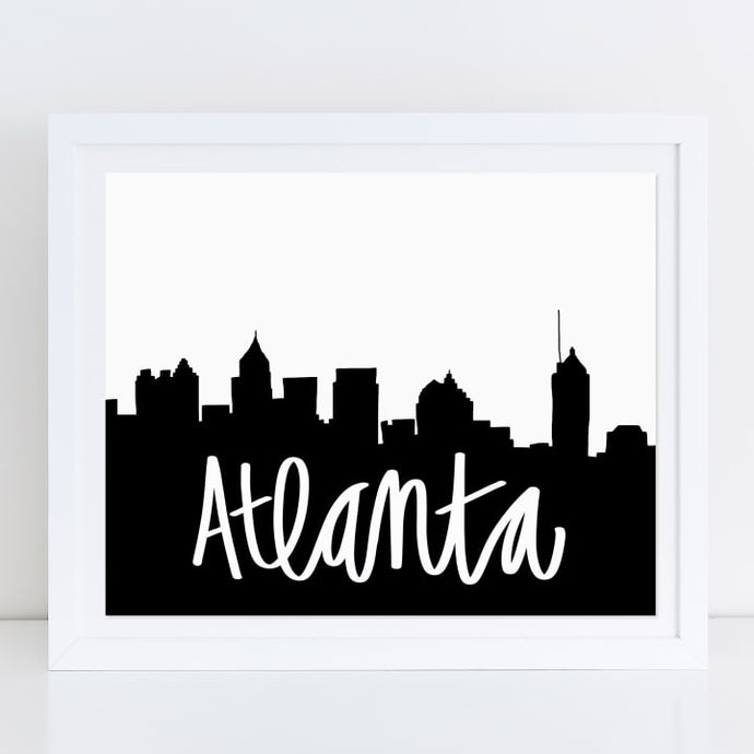ATL Skyline Wall Print and ATL inspired prints