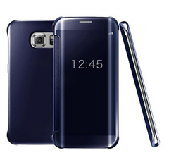 Luxury clear view flip case for Samsung