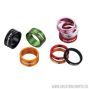 Alero Aluminum 5mm Spacer Red-Great Bike North