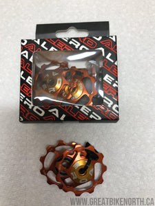 Alero Jockey Pulleys - Orange-Great Bike North