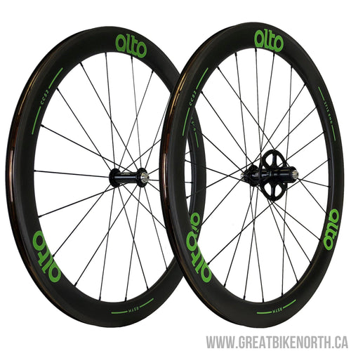 Alto CC52 Carbon Clincher 55mm Wheelset-Great Bike North