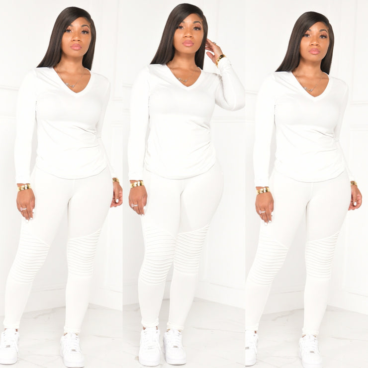 FALL BASIC MOTO SET (IVORY)