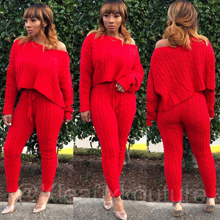 Sweater pants Set