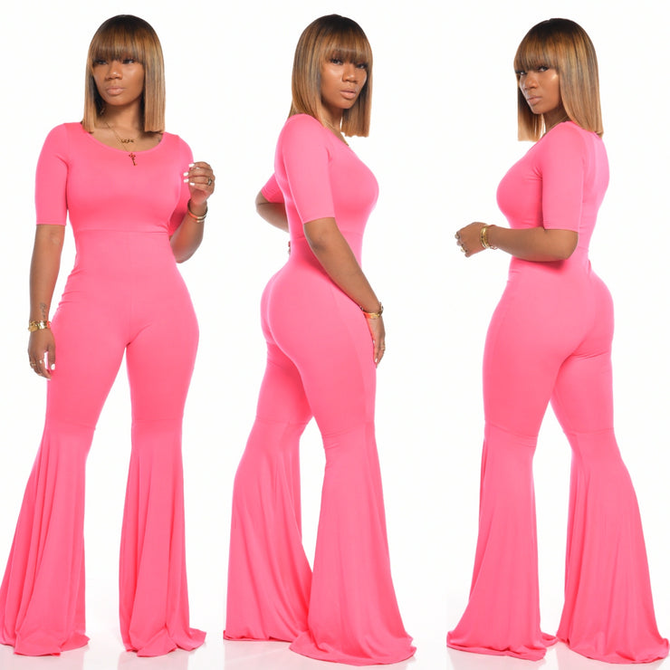 PASSIONS JUMPSUIT (FUSCHIA PINK)