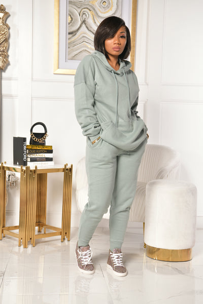 BASIC K SWEATSUIT (LIGHT GREEN)