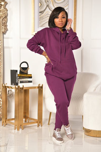 BASIC K SWEATSUIT (PURPLE)