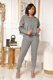 KHYLIN SWEATER SET (CHARCOAL)