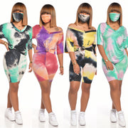 KITANA V-NECK TYE DYE BASIC SET