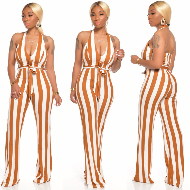 BODIED STRIPE JUMPSUIT