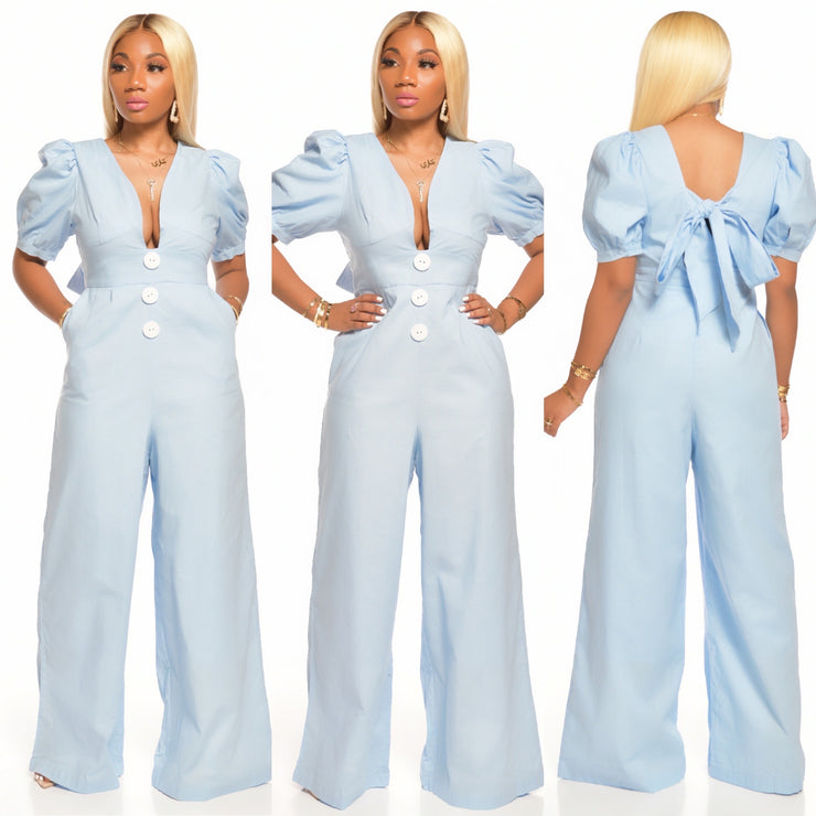 DENIM DOLLHOUSE JUMPSUIT
