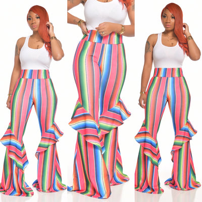 RAINBOW STRIPED BELLA PANTS